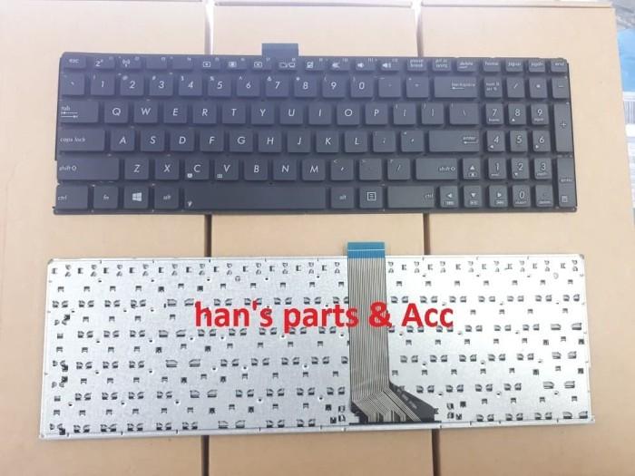 New For ASUS K55D K55DE K55DR K55N US Black Keyboard With White Icon