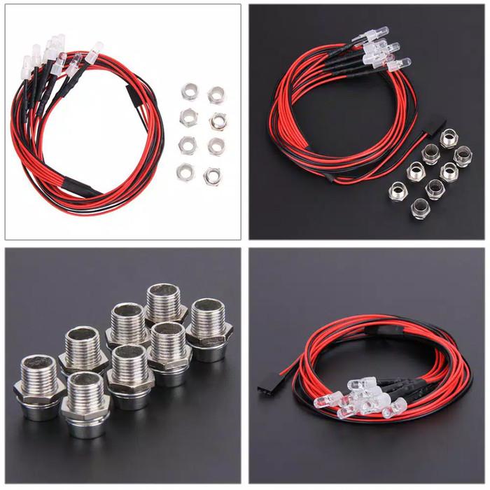 harga 8 pcs lampu led rc 5mm merah putih hsp tamiya traxxas wltoys rc drift Tokopedia.com