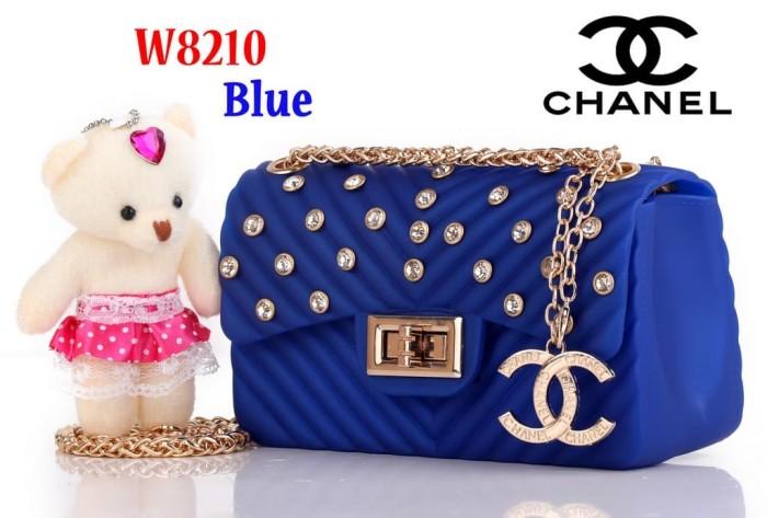 4566e60925e9 Tas Selempang Bag Impor Chanel Classic Jelly Mini W8210 8210 Biru Blue
