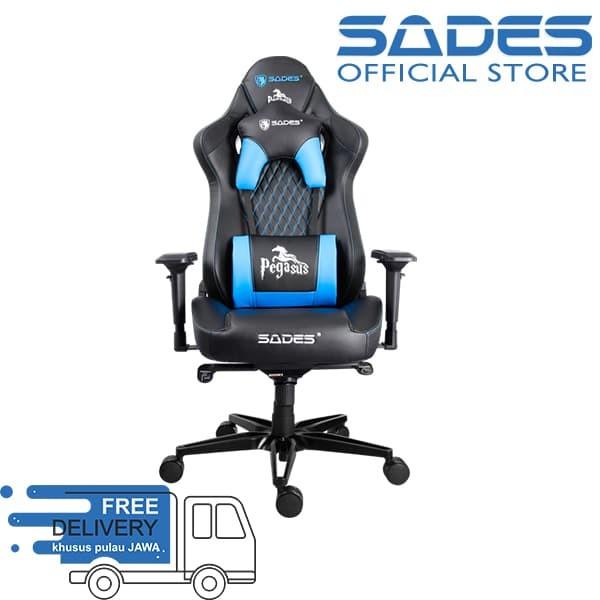 harga Sades pegasus gaming chair - biru Tokopedia.com