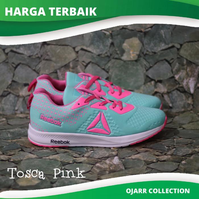 Sepatu Sneakers Reebok Running Untuk Senam Zumba Wanita Perempuan - Hitam  Pink f58890e772