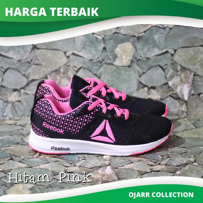 Jual Sepatu Sneakers Reebok Running Untuk Senam Zumba Wanita Perempuan -  Hitam Pink 4d295d46dc