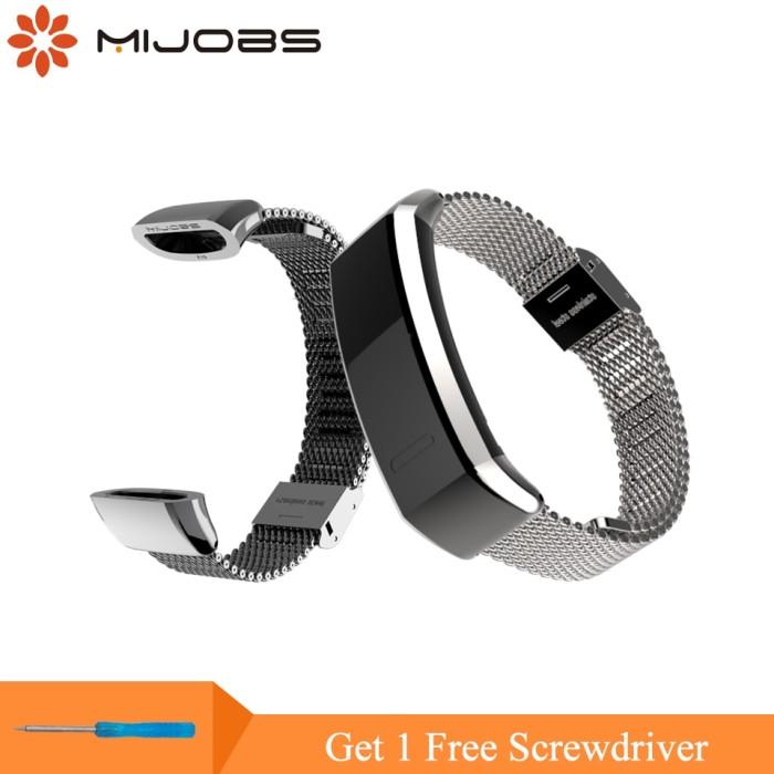 Foto Produk Mijobs Metal Strap for Huawei Sport Band 2 pro B29 B19 Smart Watch dari almira skincare