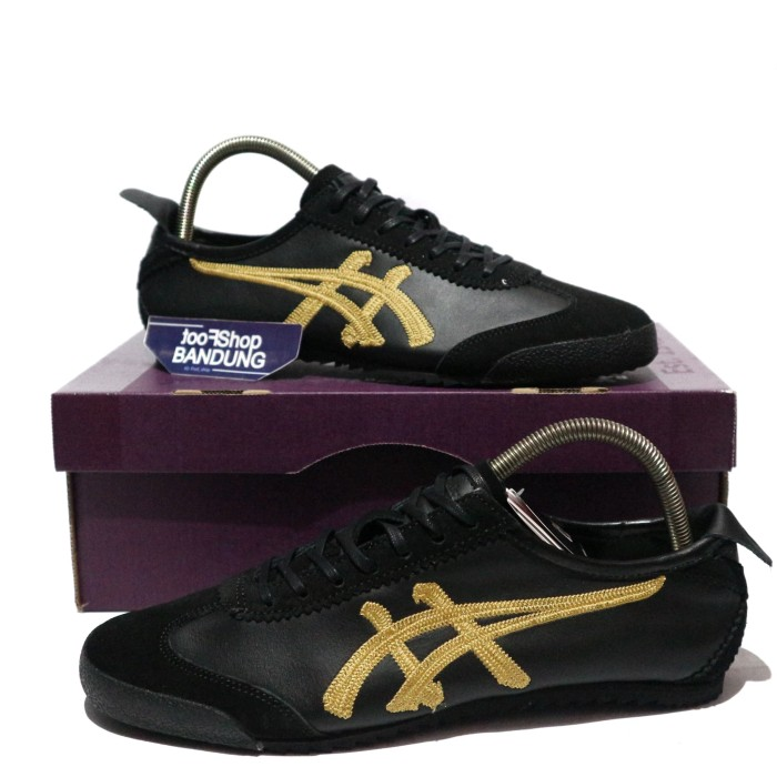 new style 81574 724e5 Jual Onitsuka Tiger Mexico 66 Deluxe Nippon Made Full Black Gold Japan -  Kota Bandung - footshop | Tokopedia