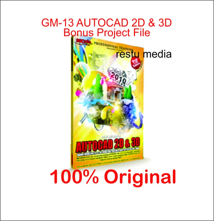 Jual GM 13 VIDEO TUTORIAL AUTOCAD 2D & 3D ORIGINAL restumedia
