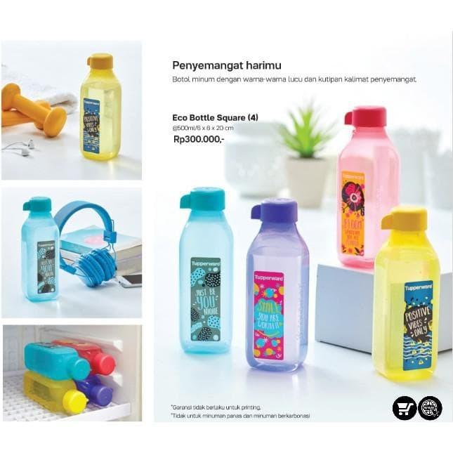 botol new eco bottle 500ml sq printing ecer 1pc