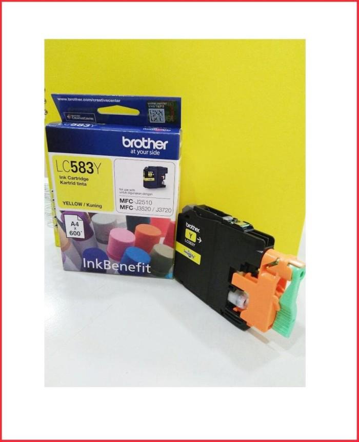 Paket Brother Inkjet Cartridge Lc583 Black Chain Magenta Yelow Asli