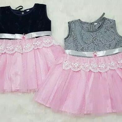 Jual Baju Dress Gaun Pesta Kondangan Anak Bayi Perempuan Brokat Pita Kota Depok Azka Nuza Tokopedia