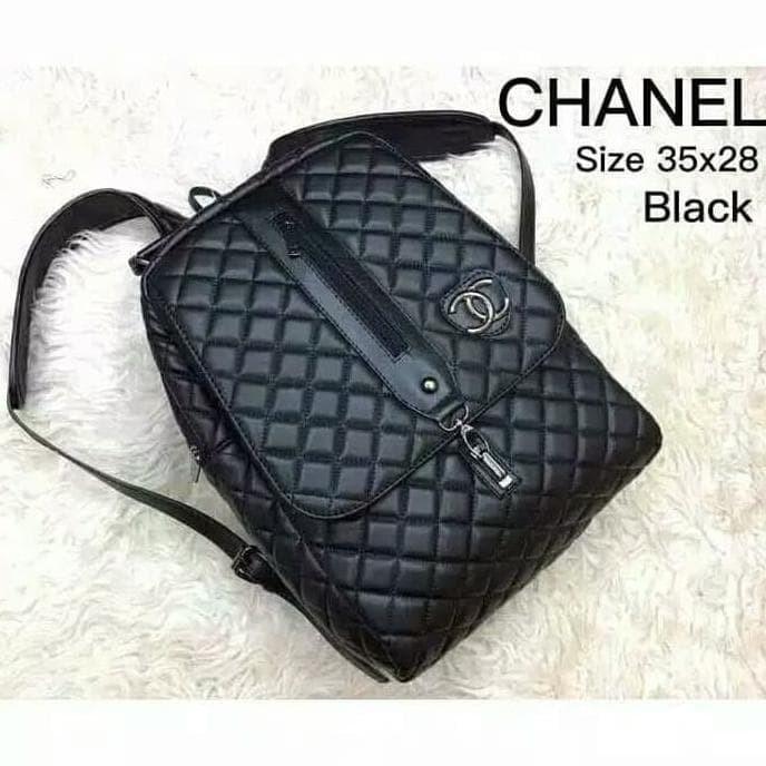 Jual tas wanita chanel ransel tas branded murah import tas kuliah ... 40eaef55b3