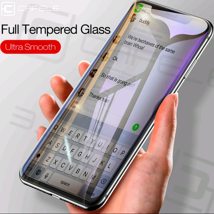 Foto Produk CAFELE 4D TEMPERED GLASS FOR IPHONE 6/6S/6 PLUS/7/8/7 PLUS/8 PLUS dari Black_ID