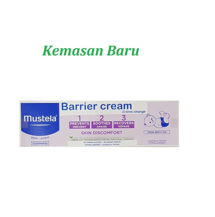 harga Mustela vitamin barrier cream diaper rash 100ml 100 ml / ruam popok Tokopedia.com