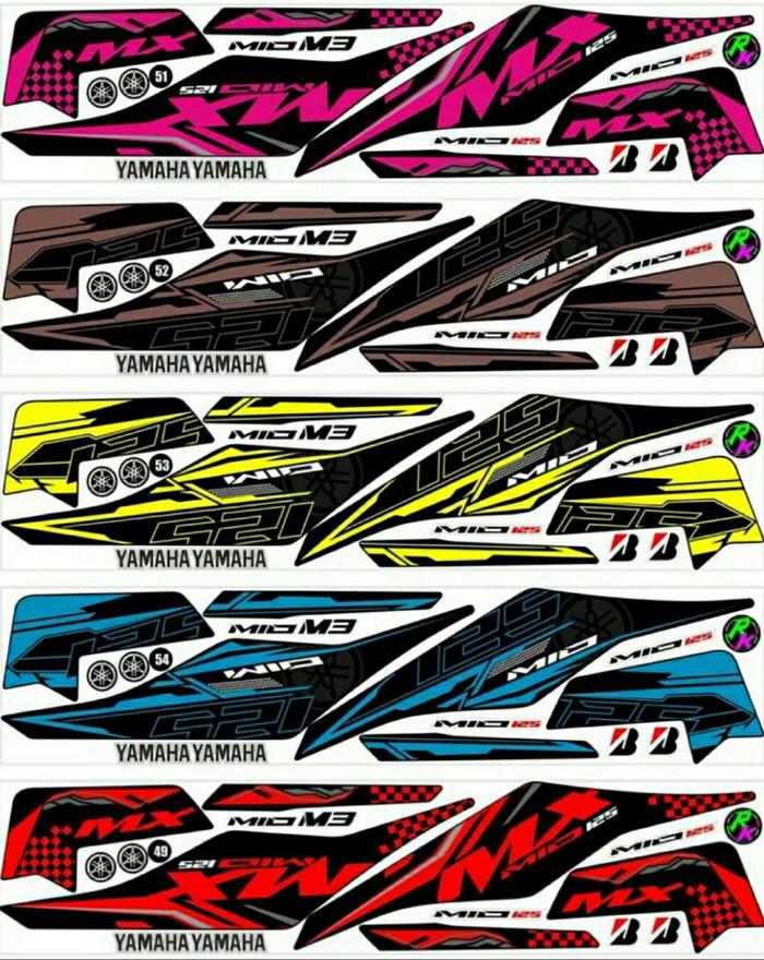 Foto Produk Sticker Striping Variasi Thailand Thailook Mio M3 125 (MIO MX 125) -2A dari MOLAN Stiker