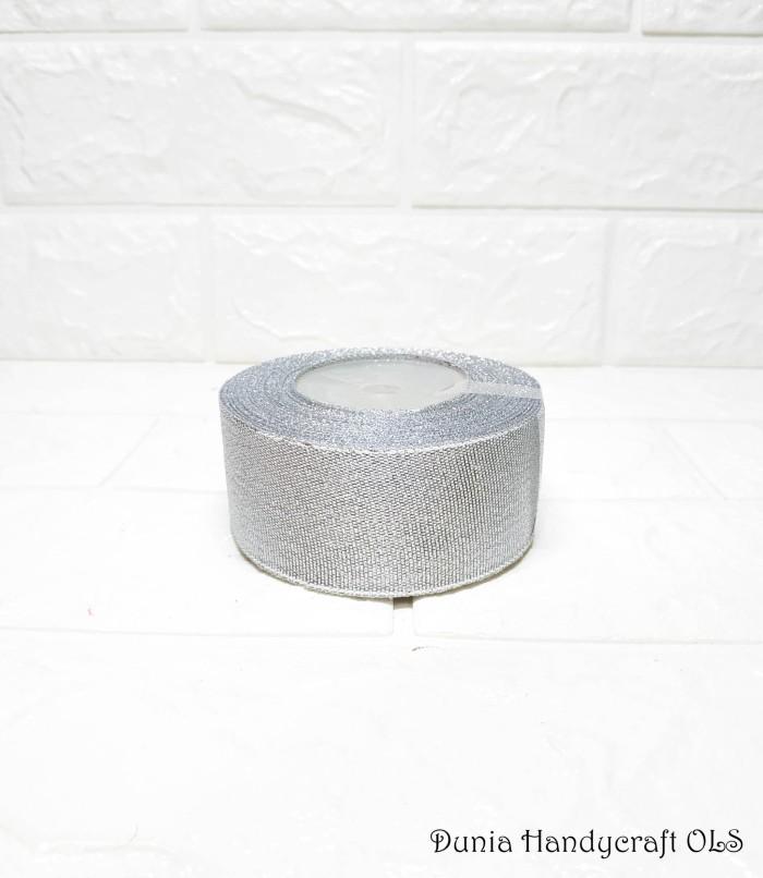 harga Pita silver 1 1/2 inch pita perak diy bahan kerajinan tangan Tokopedia.com
