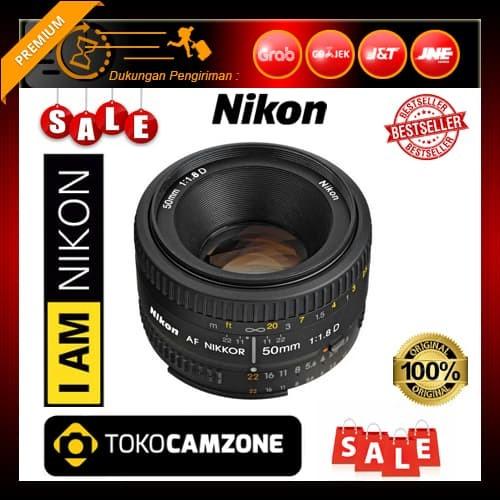 Nikon AF NIKKOR 50mm f//1.8D Lens Base Bundle