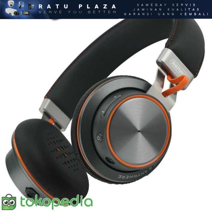 Remax Headset Bluetooth Multi Device RB-195HB - Hitam L