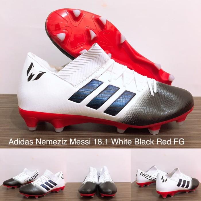 Jual Sepatu Bola Adidas Nemeziz Messi 18 1 White Black Red Fg