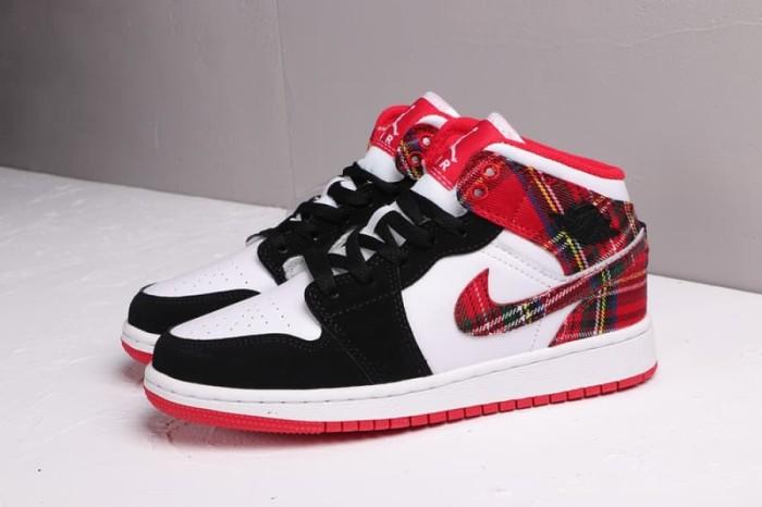 Jual Air Jordan 1 Mid White Plaid - Yur Sneaker  8a55aaac2