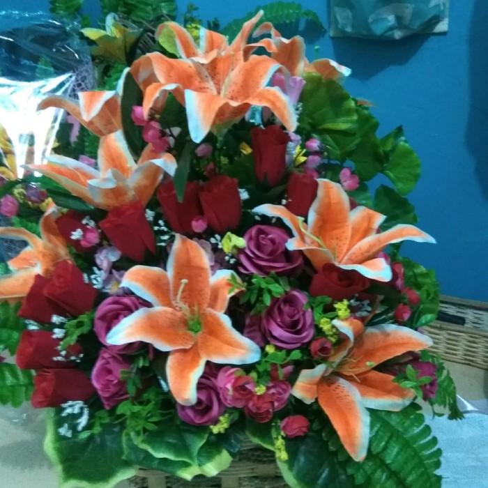 Jual Rangkaian Bunga Artificial Bunga Meja Plastik Jakarta Barat Ayudia Florist Tokopedia