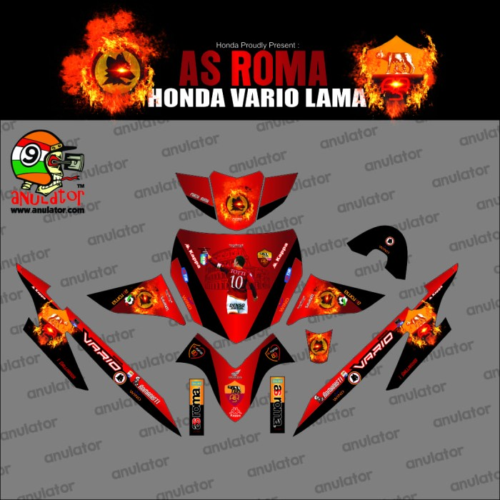 Foto Produk Sticker striping motor stiker Honda VARIO LAMA AS ROMA dari anulator-custom