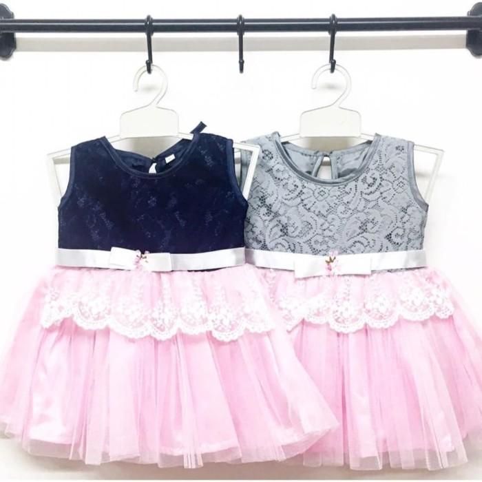 harga Baju dress gaun pesta kondangan anak bayi perempuan brokat pita Tokopedia.com