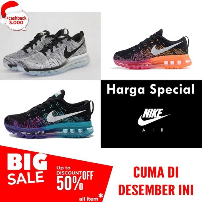 the best attitude 76cd8 e56c4 promo Sepatu Gym Nike FLyknit Air Max Sport Casual Premium murah