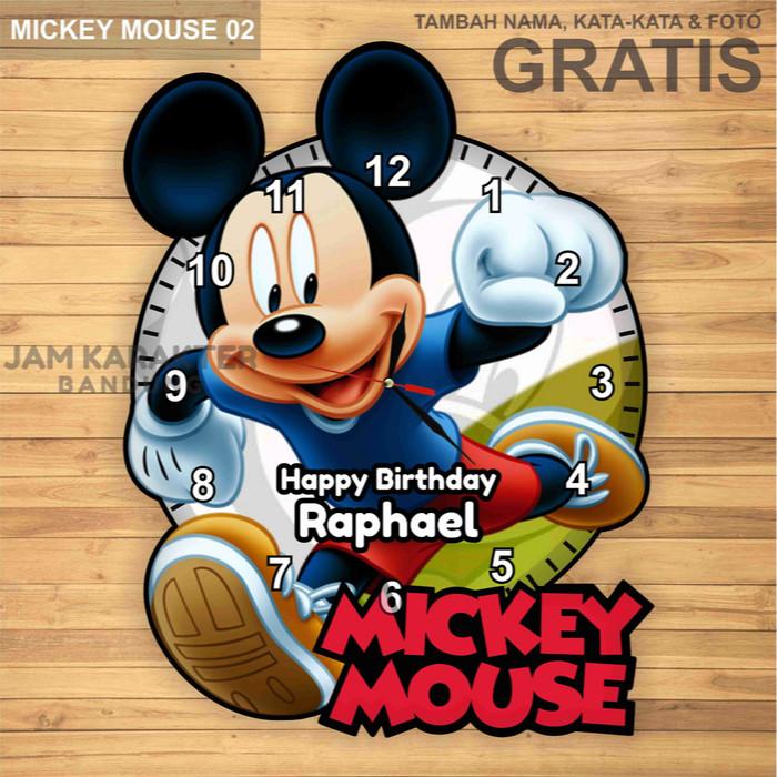 Jual Jam Dinding Custom Unik Karakter Mickey Mouse - Jam Karakter ... e83de405bc