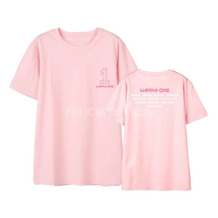 T-Shirt Tumblr Tee Kaos Wanita Lengan Pendek Wanna One Warna Pink