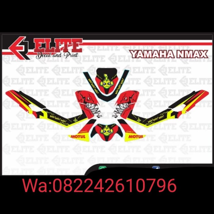 Foto Produk Decal Sticker Yamaha Nmax Shrak dari StickerArt
