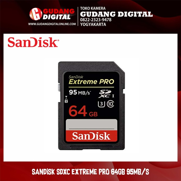 harga Sandisk sdxc extreme pro 64gb 95mb/s Tokopedia.com