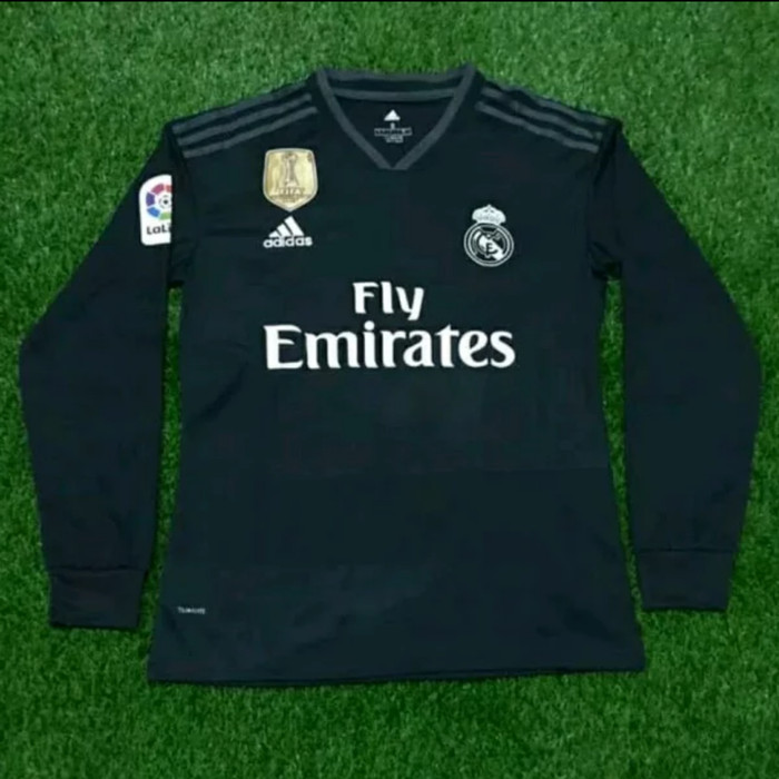 fe992dfa534 Jersey Real Madrid 2018-2019 Away Long Sleeve Lengan Panjang Grade ori
