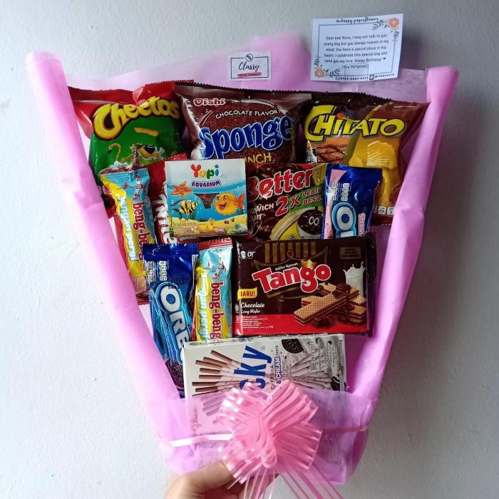 Jual Buket Snack Snack Bouquet Buket Makanan Buket Wisuda