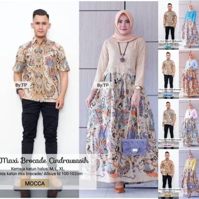 Foto Produk Batik Couple / Batik Sarimbit Gamis Brokat Cendrawasih dari anitaolshop