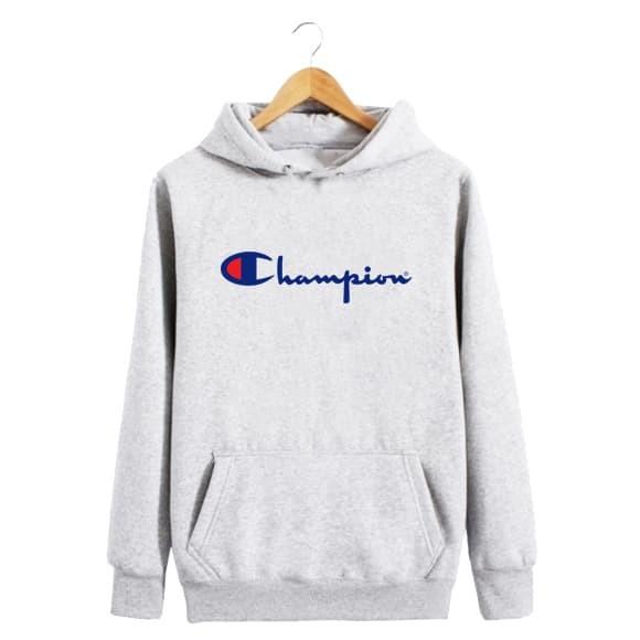 Sweater Hoodie Jumper Champion - Hitam, XL