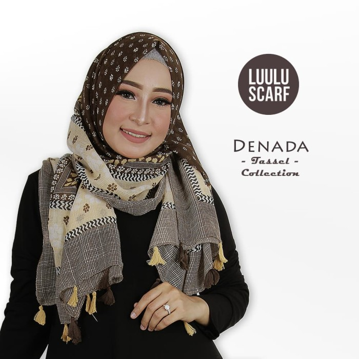 Luulu scarf - denada   bunga   acrylic   hijab motif / jilbab impor