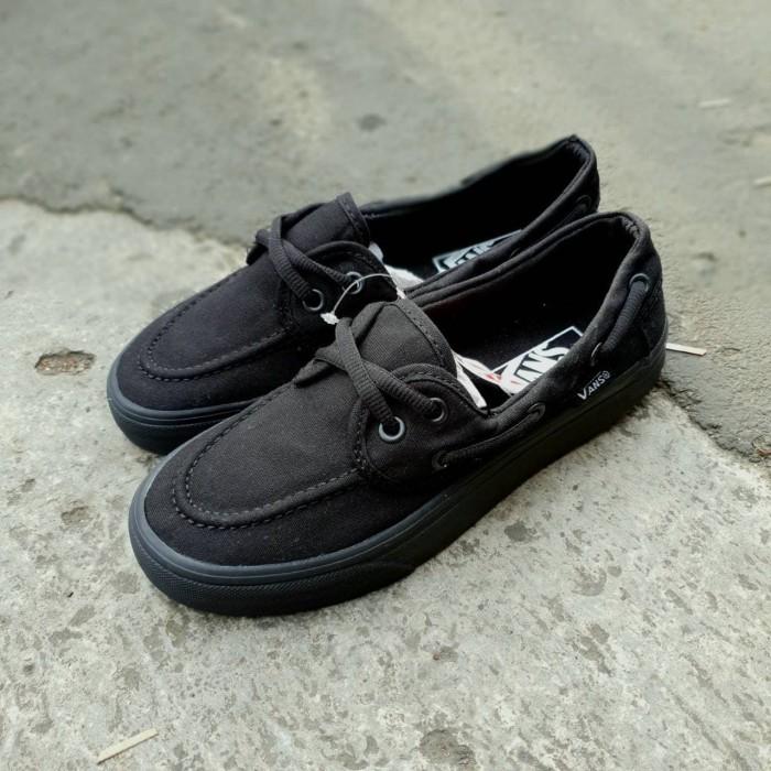 07f34c2a41 Jual sepatu vans zapato all black - BOGESHOES
