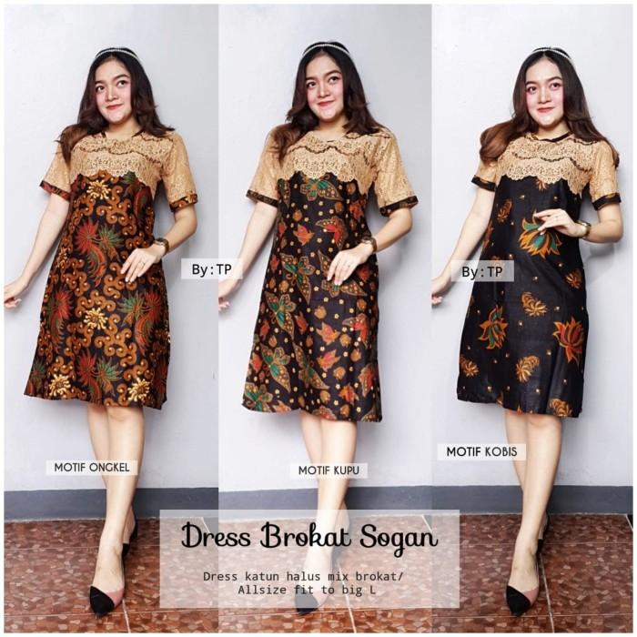 harga Dress batik etnik mix brokat murah ukuran m l xl Tokopedia.com
