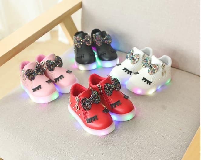 harga Sepatu boots anak led / boots lash led - 28 merah Tokopedia.com