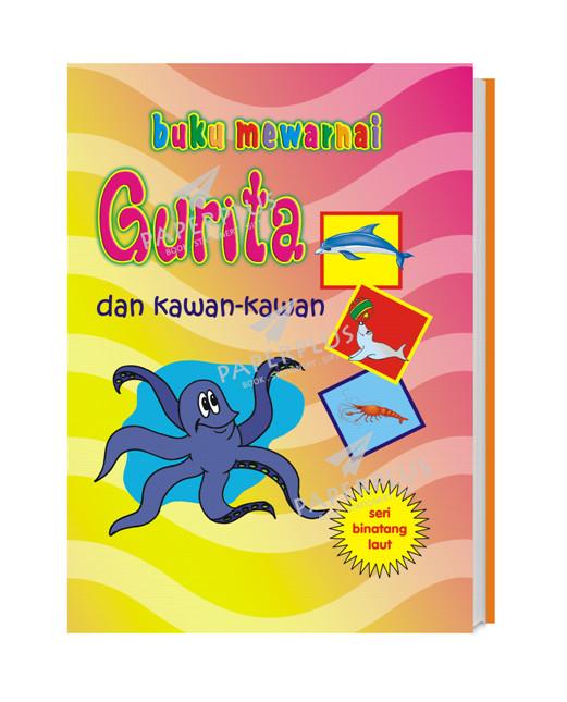Jual Buku Mewarnai Binatang Laut Gurita Kota Tangerang Selatan