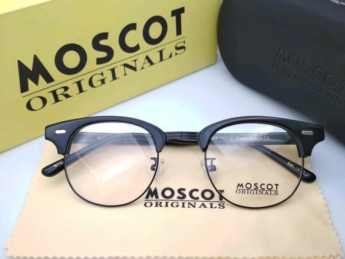 Jual frame kacamata pria wanita premium moscot yukel full black ... 6ffa7c1ad9