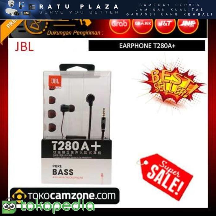 JBL T280A Stereo In-Ear Headphone - Hitam F