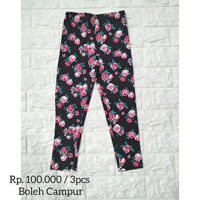 Jual Celana Legging Anak Branded Motif Bunga Bunga Sale Akir Tahun Kota Semarang Vansie Love House Tokopedia