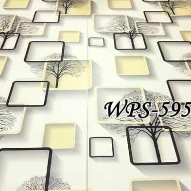 Jual Wallpaper Dinding Murah 5 Meter Wps595 Motif 3d Kotak Kuning Keren Kab Tangerang Happyshop7799 Tokopedia
