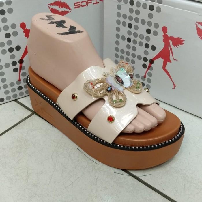 Jual Sofiya 8886 3 sandal wedges import wanita cewek sepatu flat ... 00e68c1504