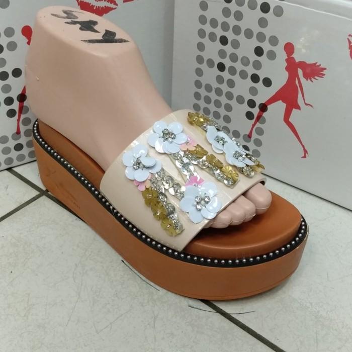 Jual Sofiya 8886 4 sandal wedges import wanita cewek sepatu flat ... 7ee03b2fbc