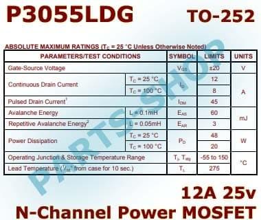 Jual P3055LDG P3055 SMD N-Channel Power Mosfet 24V 12A 50mOhm High Voltage  - Kota Semarang - parts-shop   Tokopedia