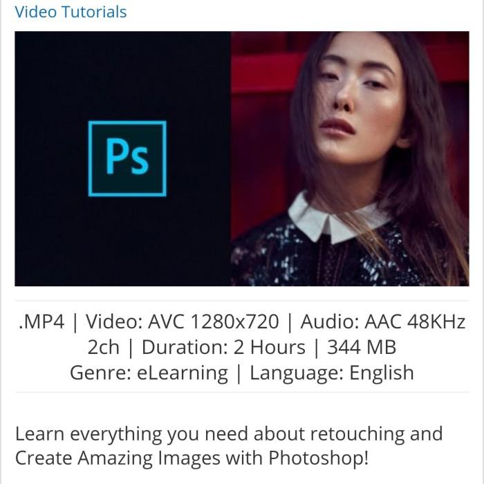 Jual Udemy - Retouching Essentials in Photoshop - Kab  Banyumas - lexatha |  Tokopedia
