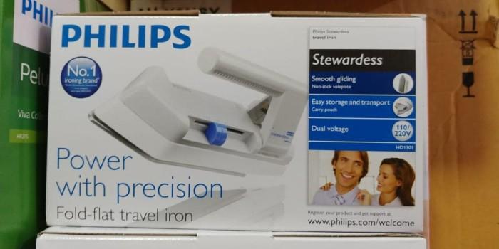 Philips travel iron / setrika listrik travel HD1301