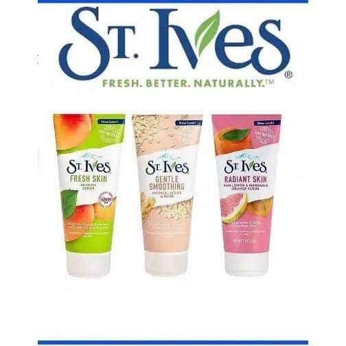 [kemasan baru] St. Ives Blemish Control Apricot Scrub 170gr Fresh Skin
