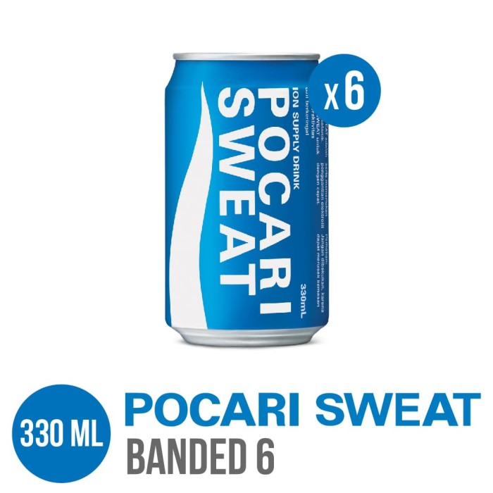 harga Pocari sweat can 330 ml banded 6 Tokopedia.com