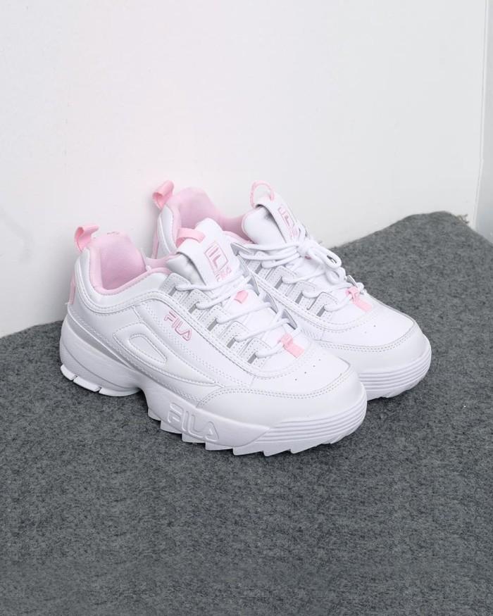 Jual Sepatu Fila Disruptor II Premium Women s White Pink - Putih 1430db2d46